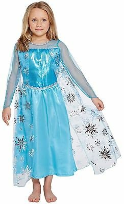 Elsa Girls Princess Child Fancy Dress Dressing Up Outfit 4 - 9 World Book Day