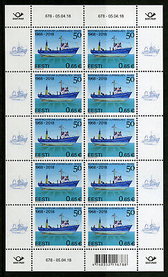 Estonia 2018 MNH Research Vessel Mare 50 Years 10v M/S Boats Ships Stamps