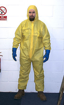 Yellow Hazmat Chemical Suit Fancy Dress Heisenberg Breaking Halloween Walter Bad](Yellow Hazmat Suit Halloween)