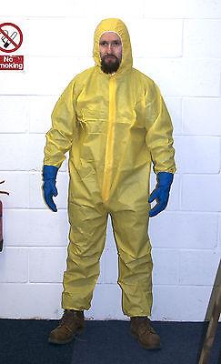 Gelb Hazmat Chemische Anzug Kostüm Heisenberg Breaking Halloween Walter Bad