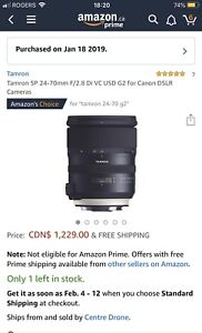 Brand new Tamron SP 24-70mm F/2.8 lens