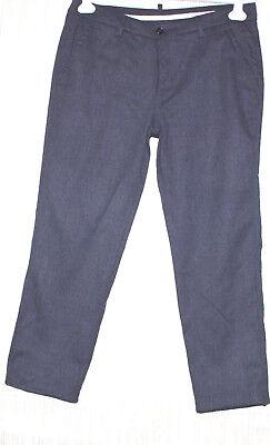 JO NO FUI Italy Gray Wool Straight Leg Women Pants Size:46