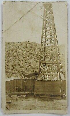 Vintage Oil Derrick Photo Taft Bakersfield Kern County Ca Wood Pump Jack 1910s