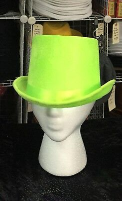12pc Neon Green Top Hats - Wholesale Top Hats