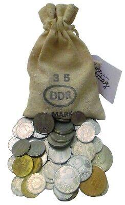 35. Geburtstag (1984) dazu gesparte 35 DDR Mark in Münzen – Ostalgie