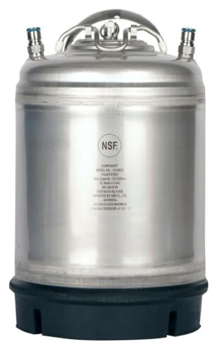 2.5 Gallon Ball Lock Keg New with Relief Valve  Homebrew Draft Beer - Ships Free
