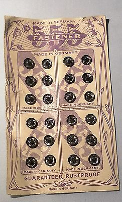 Alte 555  Fastener Druckknöpfe Knöpfe Knopf für Puppenkleidung schwarz