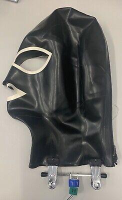 Libidex Latex Big Eye Hood.M/L.Black/White.Fetish/Gummi/Sub