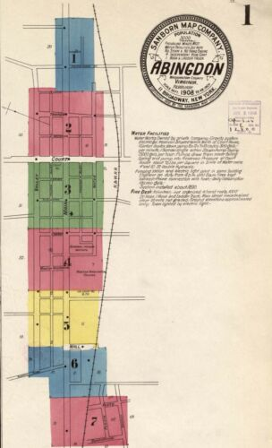 Abingdon, Virginia~Sanborn Map©sheets~on a CD in color~+1885 to 1922