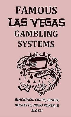 Famous LAS VEGAS GAMBLING SYSTEMS book blackjack POKER!