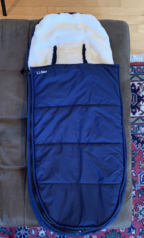 LL Bean Warm, Ultra Plush Stroller Bunting For Baby and Toddler - Navy