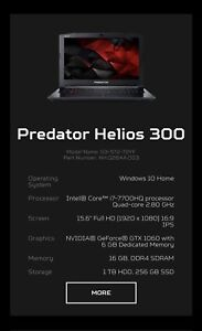 GAMING LAPTOP i7-7700HQ WITH GTX 10160