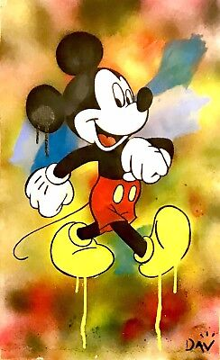 Original Signed DAV W/COA** Mickey Mouse Dillon Boy Andy Warhol Art