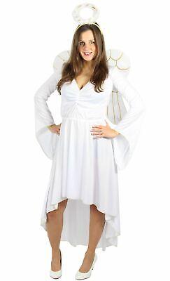 weißes Engel Kostüm mit Flügeln und Heiligenschein für - Engel Kostüme Für Damen
