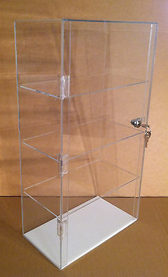Usa- Acrylic Counter Top Display Case 12 X 7 X 22.5lock Cabinet Showcase Box