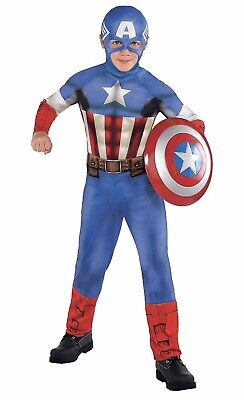 Captain America Costumes For Boys (Captain America Costume Classic for Boys, Size Large, Includes a)