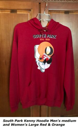 South Park Kenny Hoodie Unisex pullover Jacket Red & orange and FREE Shipping
