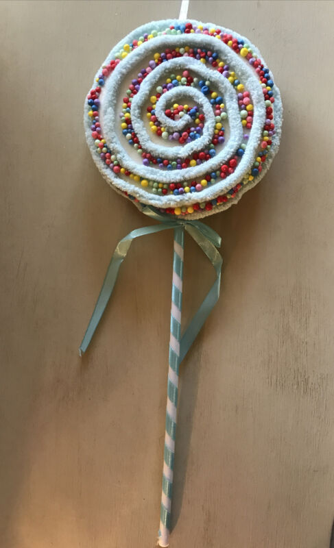Christmas Large Blue Candyland Lollipop Pick