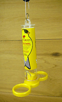 "Droll Yankees Bird Lovers Finch Finder 7"" Inch Yellow Thistle Nyjer Bird Feeder"