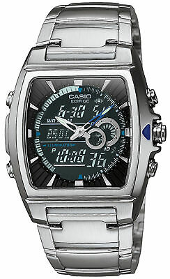 Casio Edifice Men's Quartz Ana-Digi Silver-Tone Bracelet 40mm Watch EFA120D-1AV