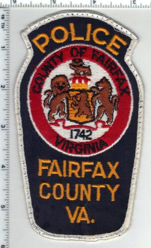 Fairfax County Police (Virginia) Narrow Uniform Take-Off Shoulder Patch