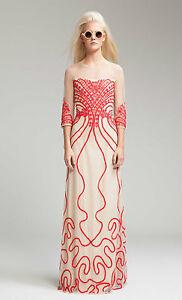 Alice Temperley London Long Ezra OYSTER MIX Evening Dress  Size UK 10 RRP £625