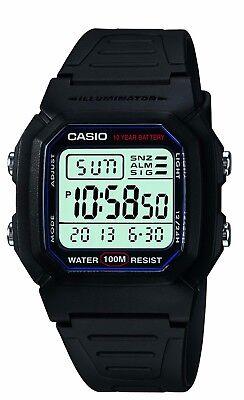 Casio Classic Mens W800h 1Av Digital Quartz Led Blacklight Resin 36 5Mm Watch