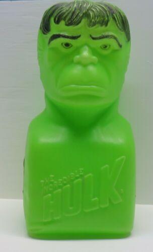 Vintage 1978 Marvel Comics Incredible Hulk Plastic Blow Mold Bank - Head Damaged