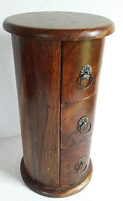 Holzkiste Schmuckkiste Teak 15,5x30,5cm mit Schubfächern