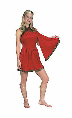 Short Toga Dress (RG Costumes Women's Red Adult Roman Toga Short Dress Size Small)