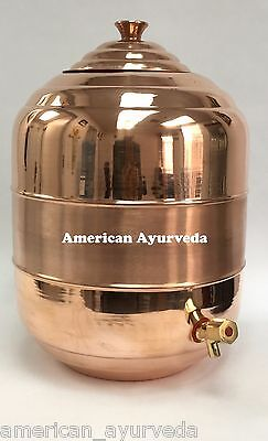 19 liters 5 Gallon Pure Copper Water Tank Dispenser Pot Faucet American Ayurveda