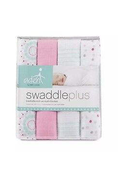 aden + anais Muslin Swaddle Plus Cotton Blankets - Sweet in Pink