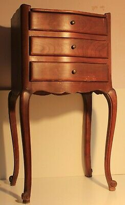 French Cherry Wood Jewelry Bespoke Cabinet Drawer Bedside Table,Chippendale 1930