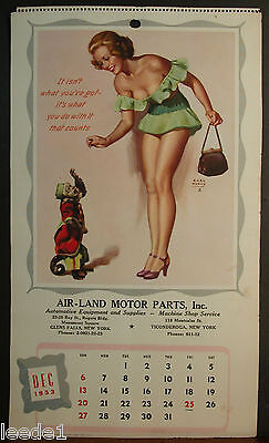 Earl Moran Calendar Page December 1953 Not What You Have But What You Do With It