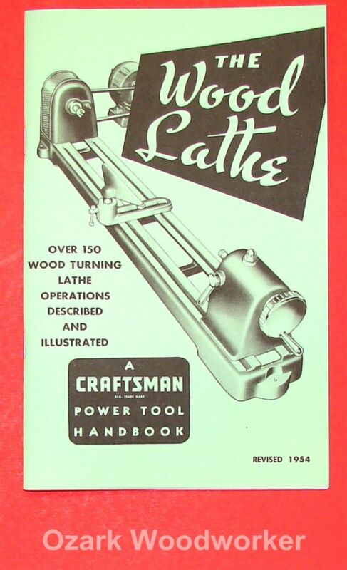 CRAFTSMAN Wood Lathe 1954 Handbook Operator