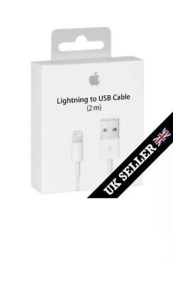 GENUINE Original 2M Apple Lightning USB Data Charger Cable iPhone 6 6S 7 Plus 5