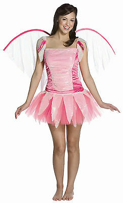 Enchanted Fantasy Pink Fairy Adult Costume with Wings - Fantasy Adult Costumes