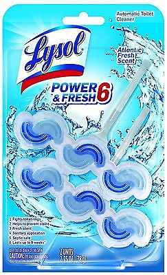 Lysol Power   Fresh 6 Automatic Toilet Bowl Cleaner  Atlantic Fresh 2 Ea