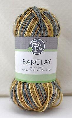 Fair Isle Barclay Wool Acrylic Bamboo Variegated Yarn - 1 Skein Woodland (Acrylic Bamboo Yarn)