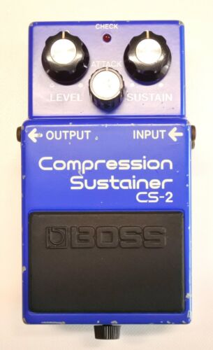 BOSS CS-2 Compression Sustainer Guitar Effects Pedal MIJ 1983 #318 DHL or EMS