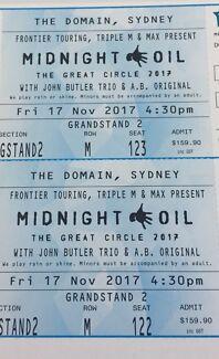 Midnight Oil, 2 tickets, Sydney Concert