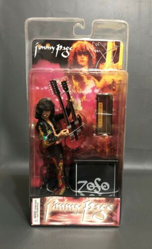 Led Zeppelin Jimmy Page Action Figure NIB Classicberry Limited 2006