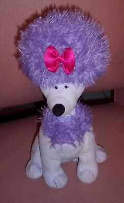 """KOHL'S CARES Cleo Plush Stuffed Animal Toy from Clifford -Purple Poodle Dog 11"""""""