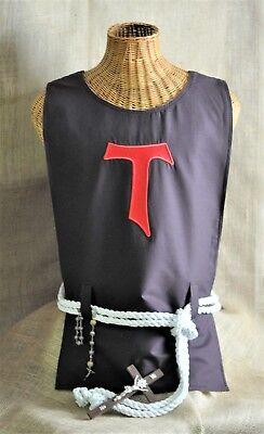 St. Francis Tau Cross Hairshirt, Cilice, Sackcloth, Christian Lenten Hair shirt  for sale  Seattle