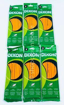 6 Pks Dixon No. 2 Hb Pencils Bulk Lot Wholesale Back To School 48 Ct