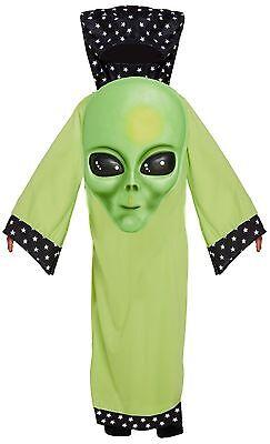 Child's Boys Girls Halloween Jumbo Face Alien Fancy Dress Costume Outfit 4-12yr - Giant Alien Costume