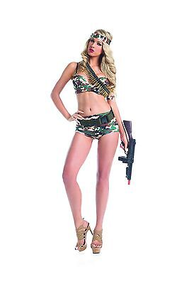 Sexy Adult Women's Halloween Army Commando Military Girl - Sexy Military Girl Kostüme