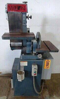 Wilton Model 4204 Belt And Disc Sander 6 Belt 12 Disc Tilt Tables 1-12 Hp