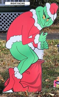 GRINCH Plagiarizing CHRISTMAS Lights Right Facing Yard Art Decoration FREE SHIPPING