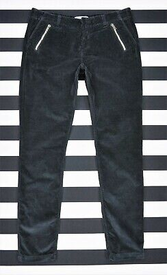 HOUSE OF DAGMAR Slim Fit Straight Black Corduroy Trousers Pants size 40